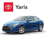 3/4 Quarter Left Facing Image of a Blue 2020 Toyota Yaris