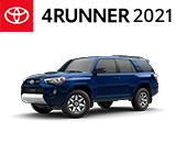 3/4 Quarter Left Facing Image of a Blue 2021 Toyota 4Runner