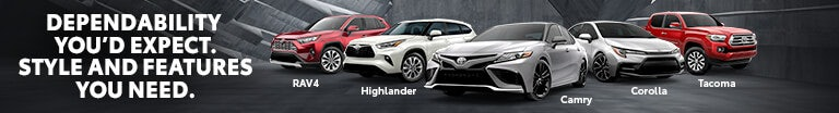 Check out Toyota's full lineup.