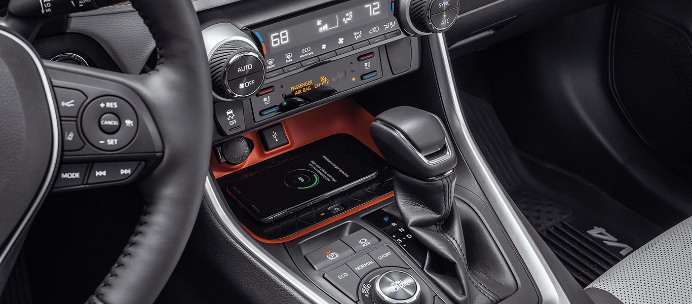 2020 Toyota RAV4 USB ports expanded gallery image