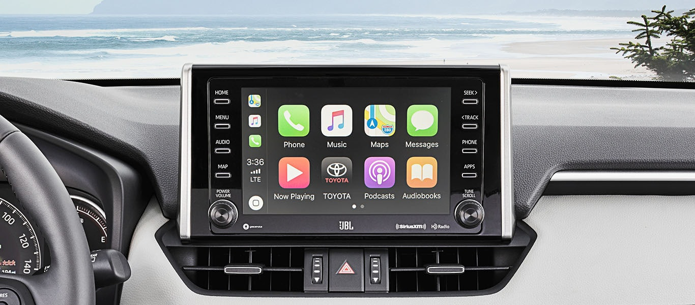 2020 Toyota RAV4 Hybrid Apple CarPlay gallery expanded image