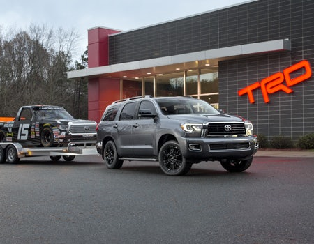 The 2018 Toyota Sequoia. For the family that plays harder.